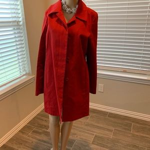 Old navy red knee length all weather coat